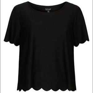 Topshop Scalloped T-Shirt size US 4